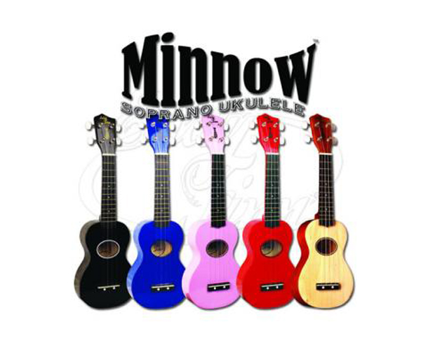 Uke-Eddy Finn Minnow Sampler 6 Pack (1 each colour)