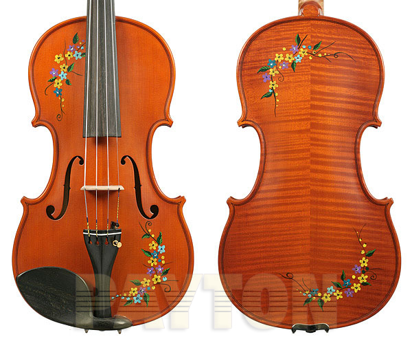 Gliga I Violin Painted-Flowers w/Tonica