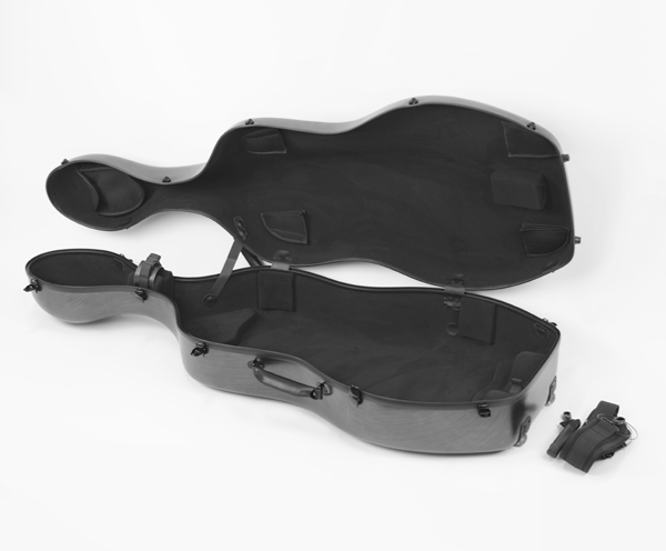 Cello Case-Polycarbonate HQ-Brushed Champagne