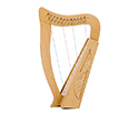 Baby Harp-12 String Carved w/Bag