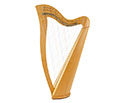 Folk Harp 24 String Plain with Bag
