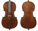 Gliga II Cello Outfit-Aged Dark Antique 4/4
