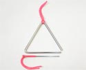 Triangle Chrome with Beater - 6 inch