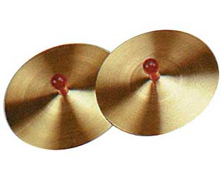 Cymbals-5in With 7mm Wood Knob (Pair)