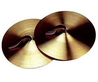 Cymbals - 5in w/Leather Strap (Pair)