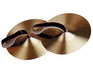 Cymbals - 8in w/Leather Strap (Pair)