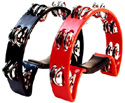 Tambourine- Half Moon Shape - Red