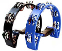 Tambourine- Half Moon Shape - Blue