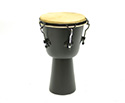 Djembe 12in. X 21in. (H) Rod Tuned-Black