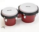 Bongos-Plastic w/Plastic Heads 7in/8in Red