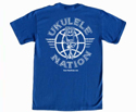 Eddy Finn T-Shirt Blue UkeNation XL