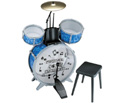 Toy Drum Kit 4 Piece with Stool