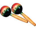 Maraca Set - Wooden - Round Tropical