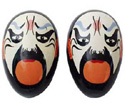 Egg Shakers-Chinese Opera Face Shakers White B