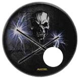 Drum Head-Holographic 20in Skull