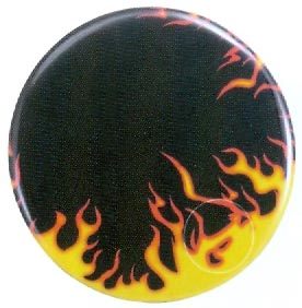 Drum Head-Holographic 22in Flames