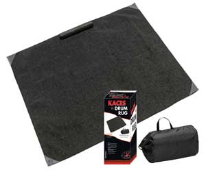 Kaces Pro Drum Rug w/nylon carry bag