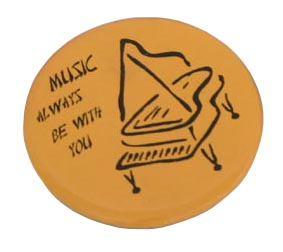 Badge - Yellow w/Piano