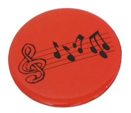 Badge - Red w/Music