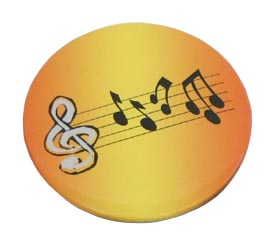 Badge - Yellow w/Music