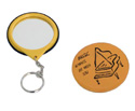 Key Ring Mirror - Yellow w/Piano