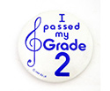 Badge 55mm I Passed My Grade 2