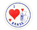 Stickers (Pack of 10)  I Love Brass