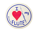 Stickers (Pack of 10)  I Love My Flute
