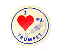Stickers (Pack of 10)  I Love Trumpet