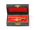 Brass Miniature In Case-Trumpet 5cm