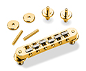 Schaller Guitar Bridge-GTM w/KTS saddles Gold