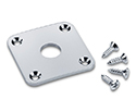 Schaller Guitar Jack-Socket Plate Chrome 159-15190200