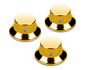 Schaller Guitar FS Knobs (Set Of 3) Gold 184-15010500