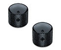 Schaller Guitar Dome Knurled Knobs (Set Of 2) Black 1176-15020400