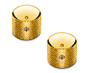 Schaller Guitar Dome Knurled Knobs (Set Of 2) Gold 178-15020500