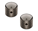 Schaller Guitar Dome Knurled Knobs (Set Of 2) Ruthenium-15020600