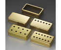 Schaller Guitar Pickup Cover-6 Hole Gld 134B
