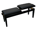 Piano Bench-Duet. Dual Adjustable. Black