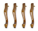 Spare Cabriolet Leg (Set of 4) Walnut