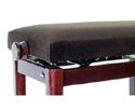 Piano Bench M290-(Adj-Str Leg) Walnut Gloss