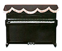 Piano Cover -Upright-Top-Brown