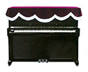 Piano Cover -Upright-Top-Burgundy