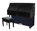 Piano Cover -Upright-Half-Black UP4