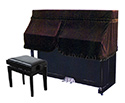 Piano Cover -Upright-Half-Burgundy UP4