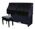Piano Cover -Upright-Half-Black UP5