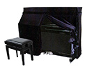 Piano Cover -Upright-Full-Black UP5
