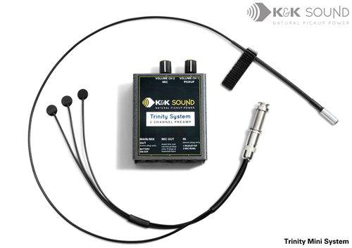 K&K Trinity Mini Acoustic- 3 P/up and Mic
