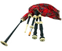 Bagpipes Set - Black Cocuswood Imit/Iv Mount