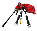 Bagpipes Set - Black Roseood.Plast Mounts