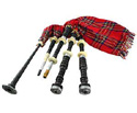 Bagpipes Set-Ebony with silver Mounts
